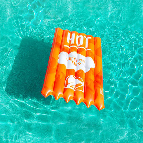 Condiment-Themed Pool Floats