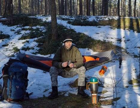 Stable Lay-Flat Camping Hammocks