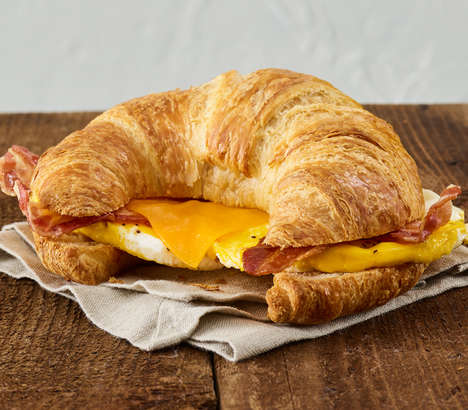 Stuffed Croissant Breakfast Sandwiches
