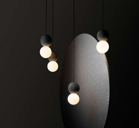 Slick Contemporary Volcanic Lamps