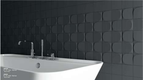 Minimalist 3D Bathroom Tiles