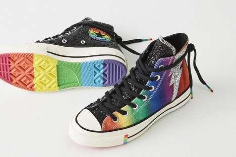 Sparkling Pride-Honoring Sneakers