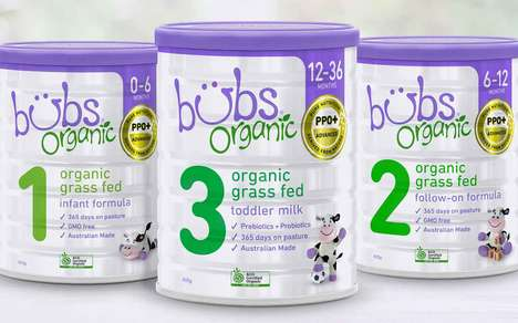 Grass-Fed Milk Baby Formulas