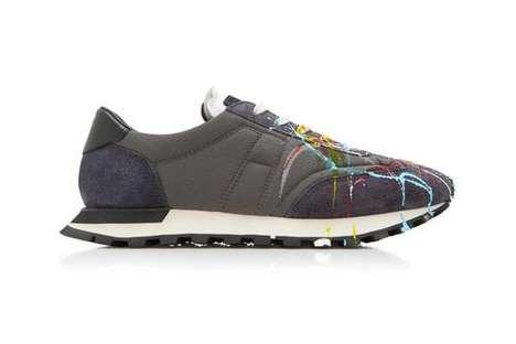 Paint-Splattering Avant Garde Sneakers