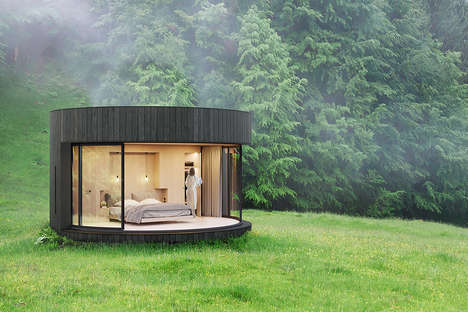 Rounded All-in-One Prefab Cabins