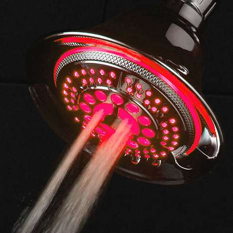 Temperature-Controlled Lit Shower Heads