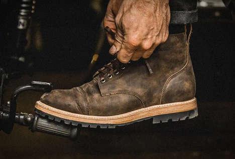 Vintage-Inspired Motorbike Boots