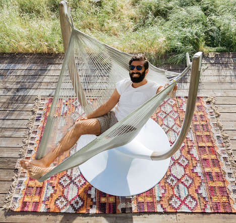 Sculptural Swiveling Hammock Furniture