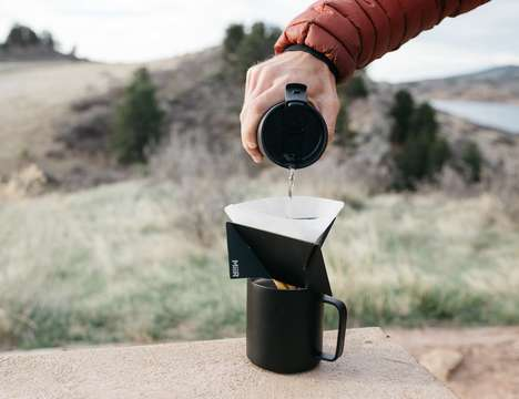 Flat-Pack Pour-Over Coffee Brewers