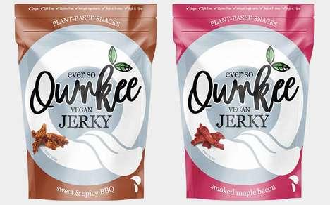 Soy-Based Vegan Jerky Snacks