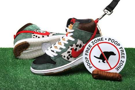 Daring Dog-Centric Sneakers - The Nike SB Dog Walker Features a Poop-Inspired Design Element