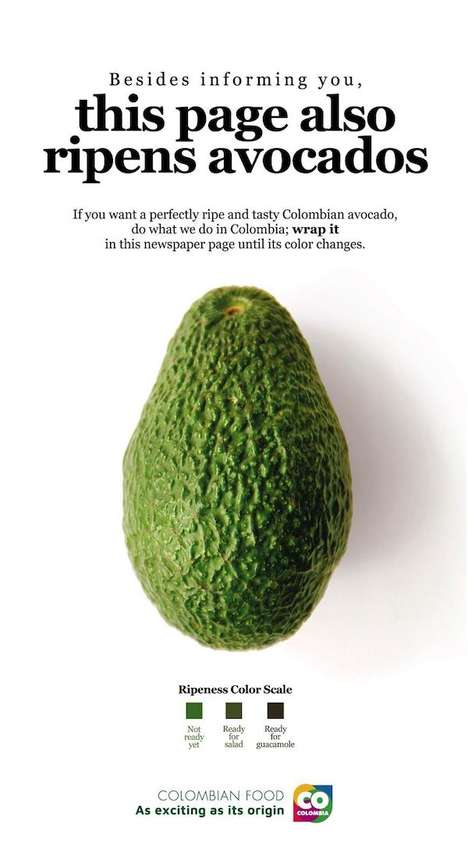 Avocado-Ripening Print Ads