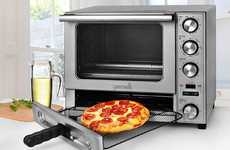 Dual-Chamber Countertop Cookers - The Gemelli Twin Oven Bakes Pizza and Chicken in Separate Spaces