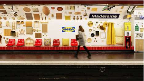 Creative Subway Station Campaigns - IKEA Takes Billboards in the Subway to a Whole New Level