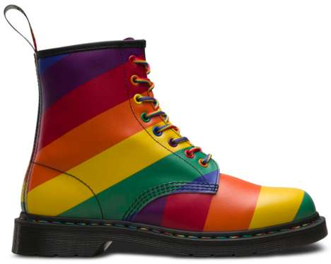 6a1cfc8ec76 Vivid Rainbow Combat Boots - Dr. Martens Updated Its 1460 Silhouette in  Time for Pride