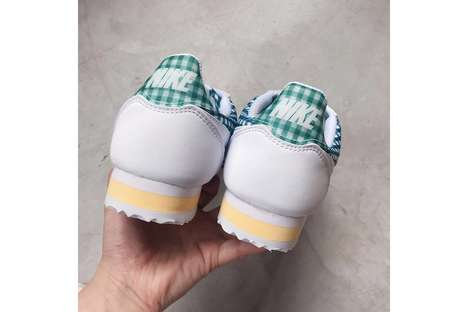 Gingham-Printed Sneakers