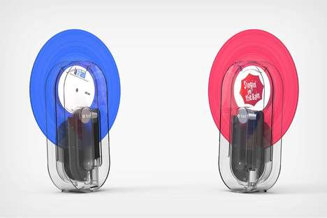 Translucent Vertical Record Players