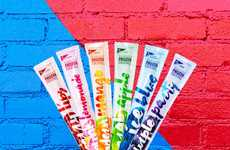 Boozy Rainbow-Hued Freezies