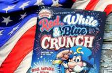Patriotic Blue Breakfast Cereals