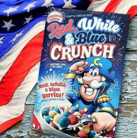 Patriotic Blue Breakfast Cereals