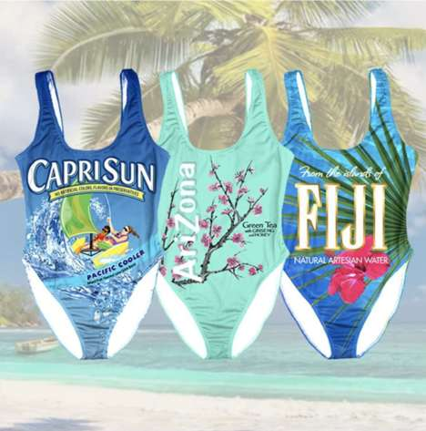 Juice Brand Swim Suits - Pacific Cooler Has Created a Nostalgia-Inducing Capri Sun Bathing Suit