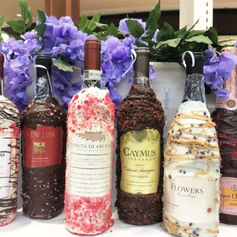 Chocolate-Covered Wine Bottles