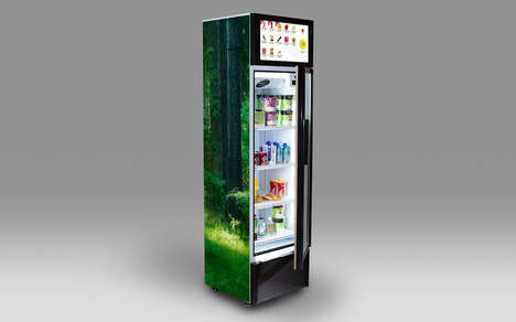 Smartphone Payment Vending Machines - The Stora Enso New Retail e-Kiosk Has RFID for Transactions