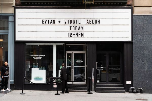 Reusable Water Bottle Pop-Ups - Virgil Abloh and Evian Opened the Drip Drop Pop-up in NYC