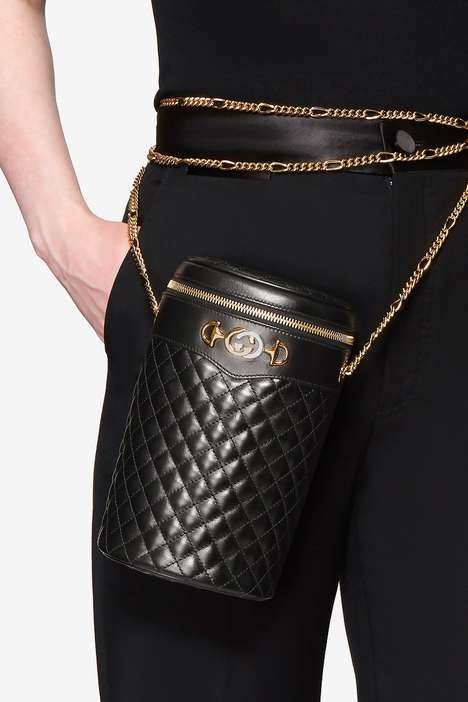 Cylindrical Leather Purses