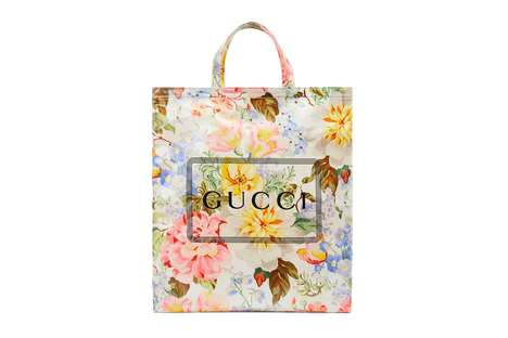 Designer Floral-Printed Totes - Gucci's Summer Totes Arrive in Bold and Minimalist Colorways