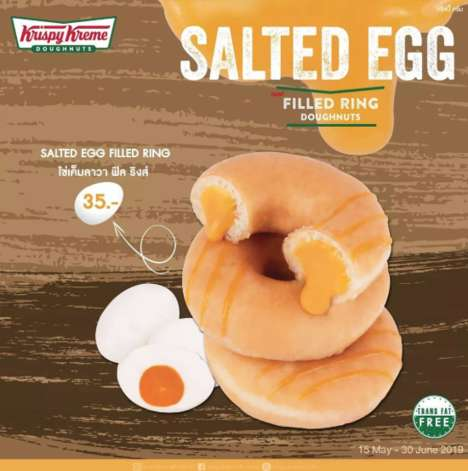 Salted Egg-Filled Donuts