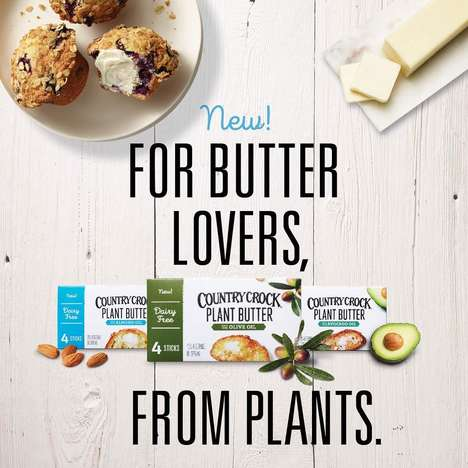 Plant-Based Butter Sticks - Country Crock Makes 'Plant Butter' from Olive, Almond & Avocado Oils