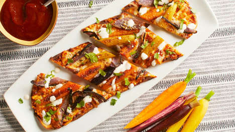 Savory Carrot-Topped Flatbreads