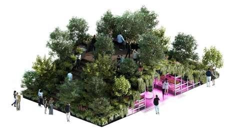 Futuristic Gardening Exhibits