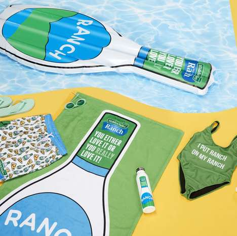 Ranch Dressing Pool Floats - Hidden Valley Ranch Launched a Summer Collection with Pool Floats