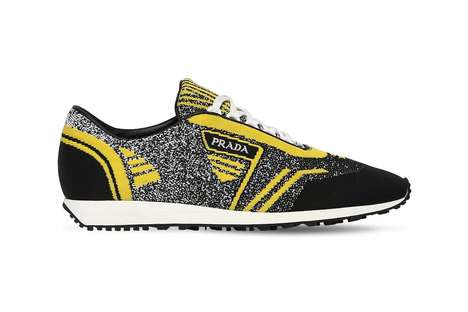 Knit Bumble Bee-Like Sneakers