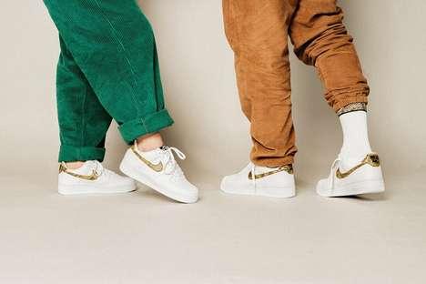 Snakeskin Branding Sneakers