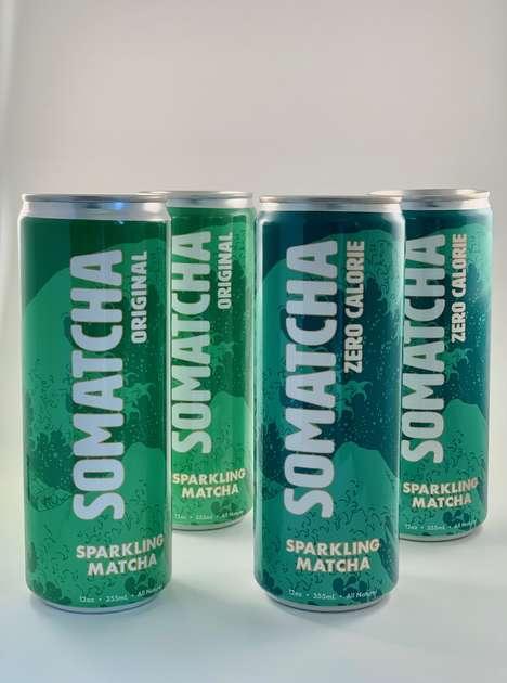 Sparkling Matcha Beverages