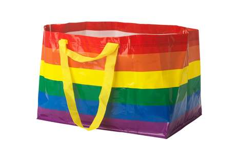 Charitable Rainbow-Clad Shopping Totes
