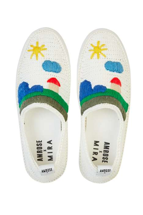 Craft-Themed Crocheted Footwear
