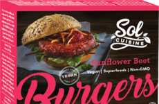 Soy-Free Beet Burgers - Sol Cuisine's Sunflower Beet Burger is a Plant-Based Protein Source