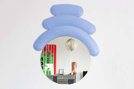 Figurine-Accenting Circular Mirrors - Josh Sperling and Case Studyo Design the Friend Mirror