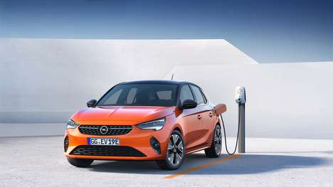 Sporty Eco Electric Hatchbacks - The Opel Corsa-e Reaches 80% in Just 30 Minutes of Charging
