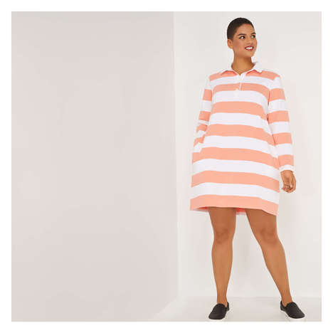 Breezy Rugby Shirt Dresses - The Joe Fresh Rugby Dress is Ideal for Summer Days Spent Outside