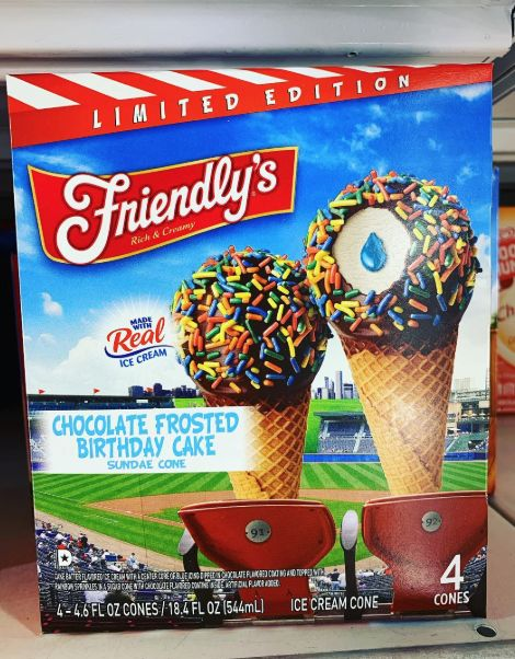Outstanding Birthday Cake Flavored Cones Chocolate Frosted Birthday Cake Funny Birthday Cards Online Overcheapnameinfo