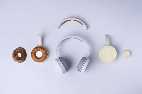 Microbe-Combining Eco-Friendly Headphones