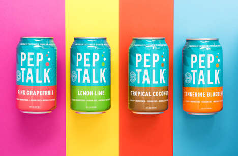 Focus-Boosting Sparkling Beverages - Naturally Caffeinated Pep Talk is Equivalent to a Small Coffee