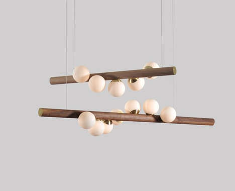 Spiraled Naturalistic Pendant Lights