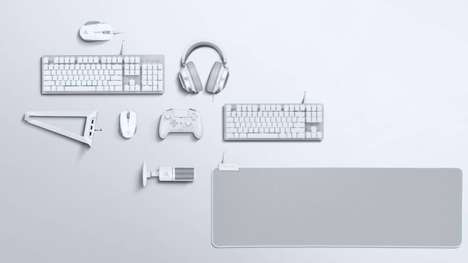 Crisp All-White Gaming Accessories