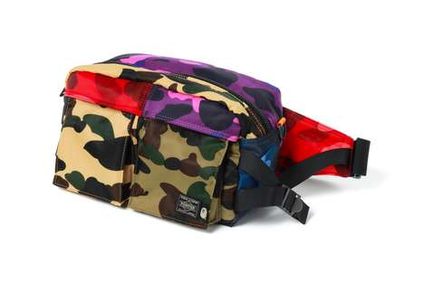 Colorful Patched Camoufalge Bags
